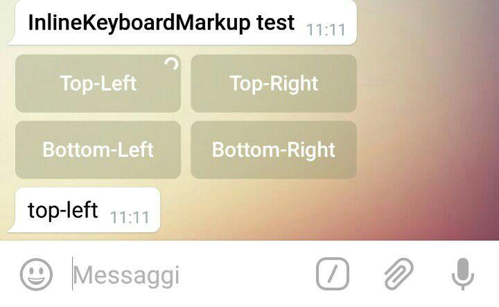 Telegram Bot Utilities – examples: InlineKeyboardMarkup